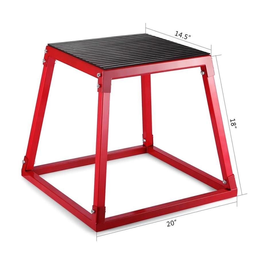 週間売れ筋 Happybuy Red Plyometric Platform Box for Training (18 Inch), rocotte f8aec3de
