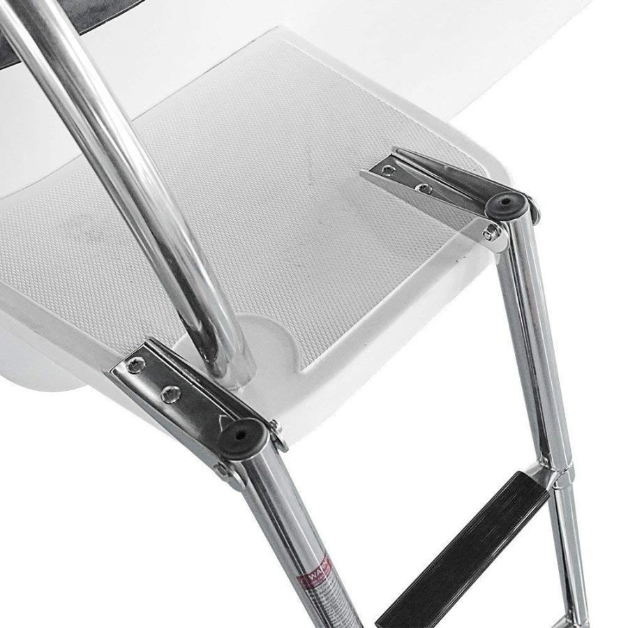爆売り! Hoffen Telescopic 4 Step Ladder Stainless Steel Telescoping Extendable, 乗馬用品プラス b736bff2