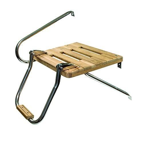 Whitecap Teak Boat Swim Platform with Ladder for Outboard Motors