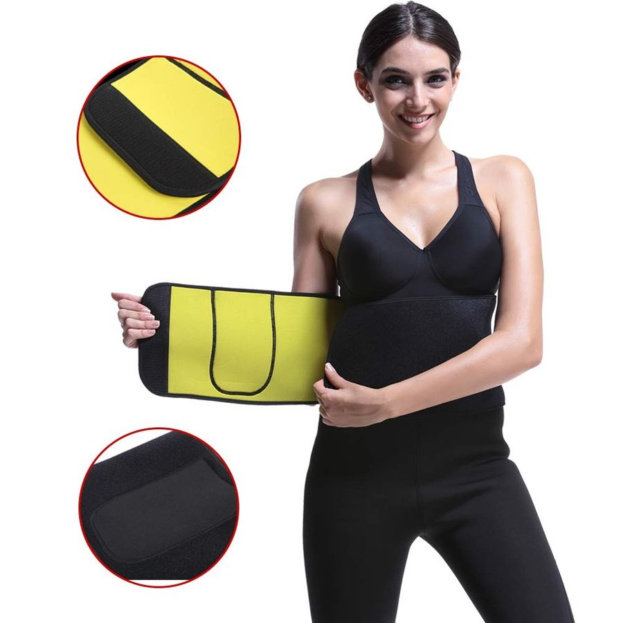 Willowy LE Waist Trimmer Weight Loss Premium Sweat Ab Belt with Phone