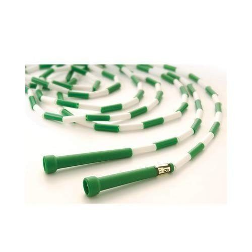 US Games Segmented Skip Rope, 16-Feet, 緑/白い