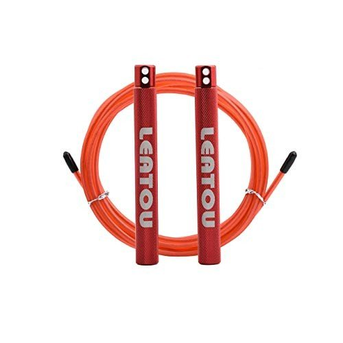 LEATOU Speed Jump Rope Crossfit Workout Ball-Bearing System Skipping R