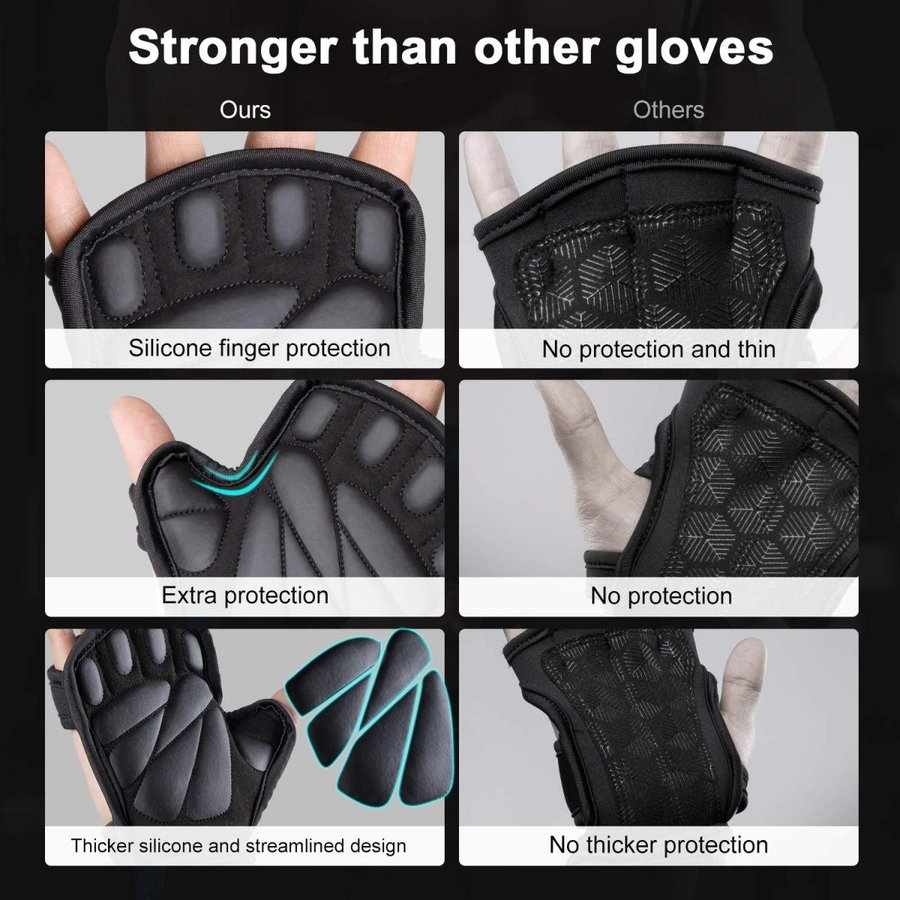 Trideer Ventilated Weight Lifting Gloves, Gym Gloves, Workout Gloves w