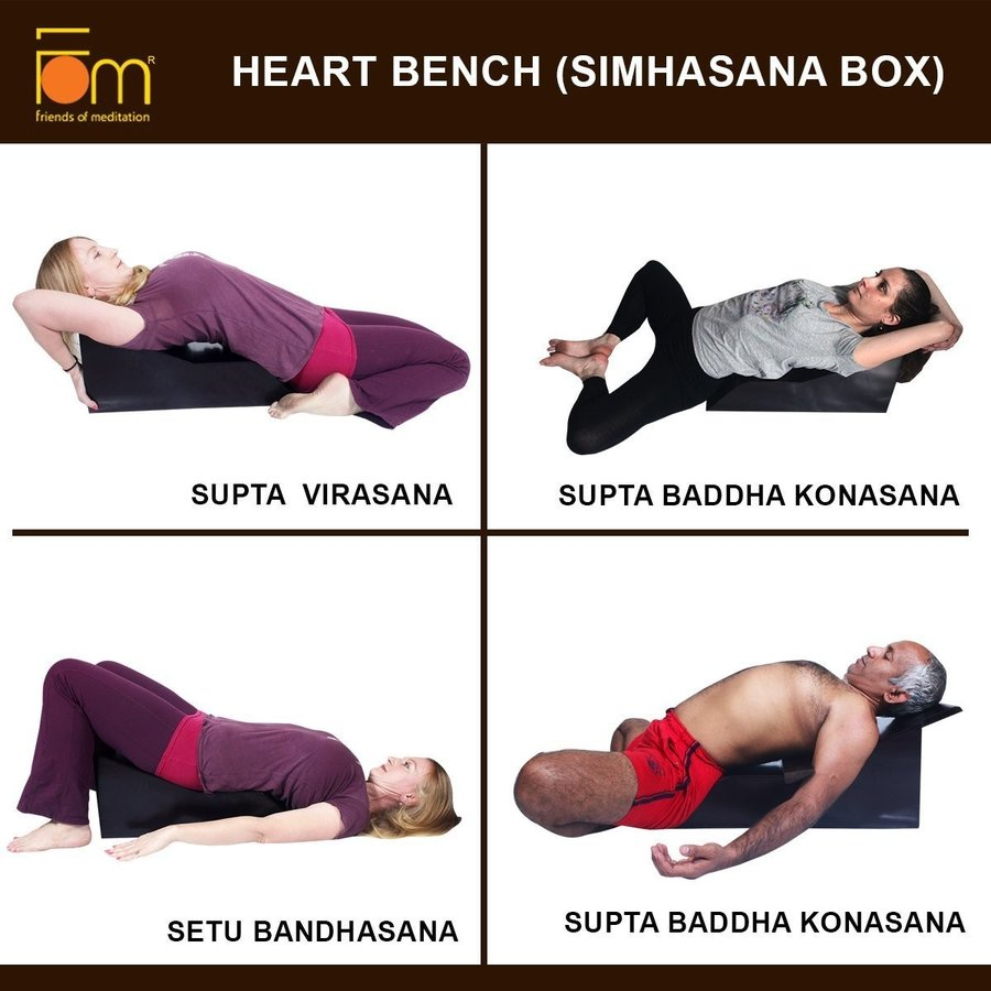 輝い Friends Prop of Meditation Heart Bench : Prop Restorativ for Yoga Bench asana and Restorativ, CASSETTE PUNCH:e29ced50 --- airmodconsu.dominiotemporario.com