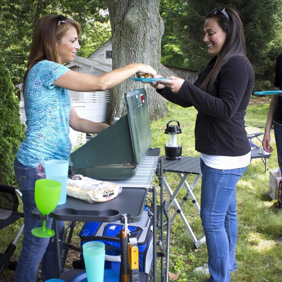 【同梱不可】 GCI Outdoor Slim-Fold Camp Kitchen Portable Folding Cook Station, お部屋飾りのサポーターサンセイ 6d4107f4