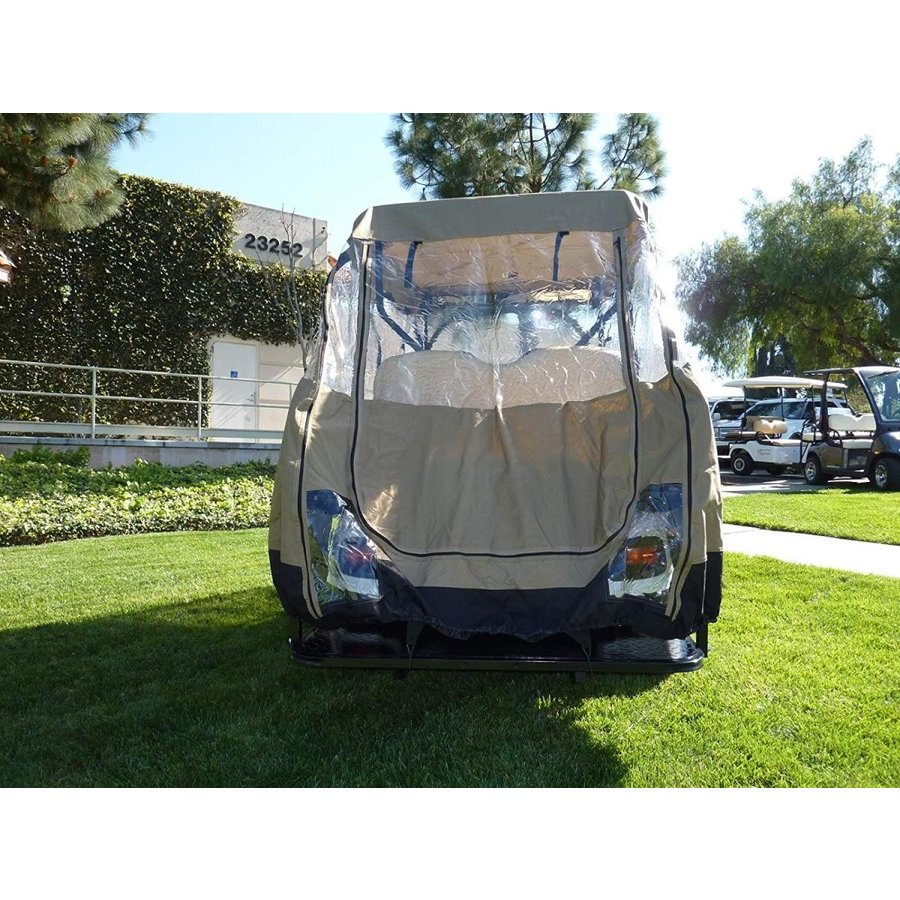 海外最新 Formosa Covers Premium Tight Weave Golf Cart Driving Enclosure for 4 S, 但東町 67b17ec1