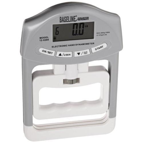 希少 黒入荷! Baseline 12-0286 Electronic Smedly Hand Dynamometer, 200 lbs Capacity, 谷口楽器 730aa923