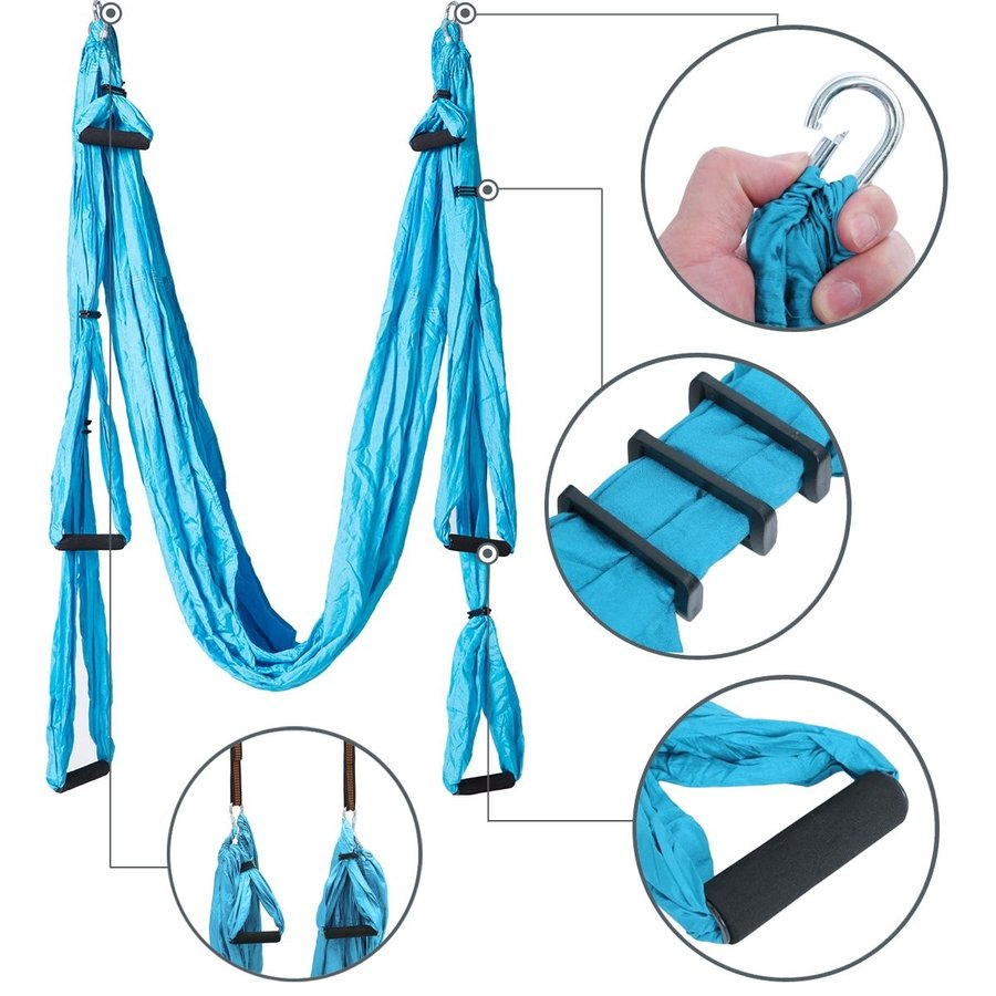 Aerial Yoga Swing Yoga Hammock Kit for Antigravity Exercise with Adjus