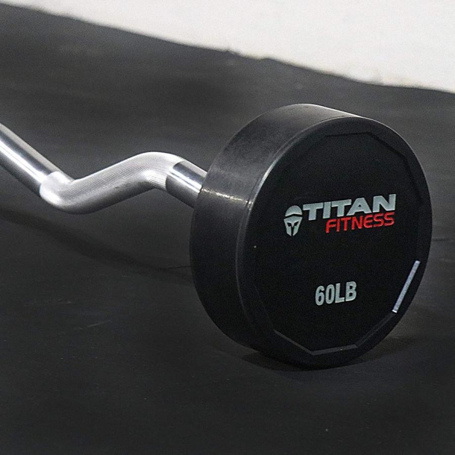 激安店舗 Titan Rubber Fixed Barbell 60   Rubber EZ Curl   LB 60 LB, アンパチチョウ:04aa4659 --- airmodconsu.dominiotemporario.com