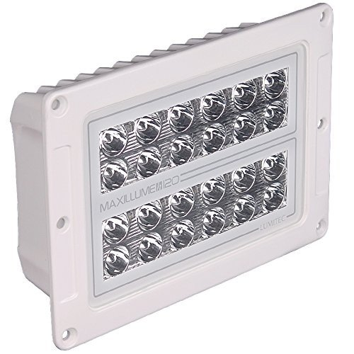 Lumitec Lighting 101348 Maxillume H120 Flush Mount Housing Light, Whit