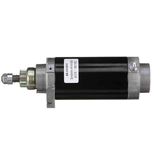 Quick銀 Starter Motor Assembly 893891T - for 65 HP - 90 HP Mercury