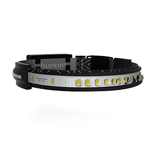 hurkins Orbit, 180? Wide Angle Rechargeable Headlamp (Black, Orbit)