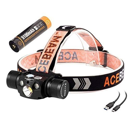 ACEBEAM H30 LED Headlamp Rechargeable 3-Color Light Cree XHP70.2 Headl