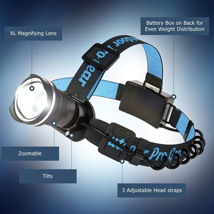 LED Headlamp - Camping Lantern & Flashlight - The Best & Only Camping