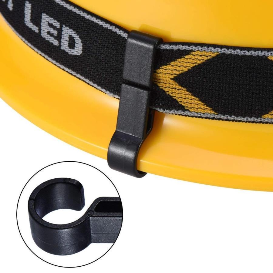 VinBee 60 PACK Helmet Headlamp Clips Hooks,Hardhat Headlamp Clips for