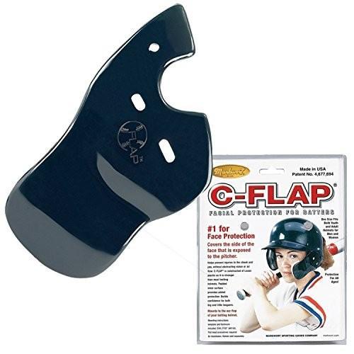 Navy Right C-Flap (Left Handed Hitter) Batter's Helmet Face Protector