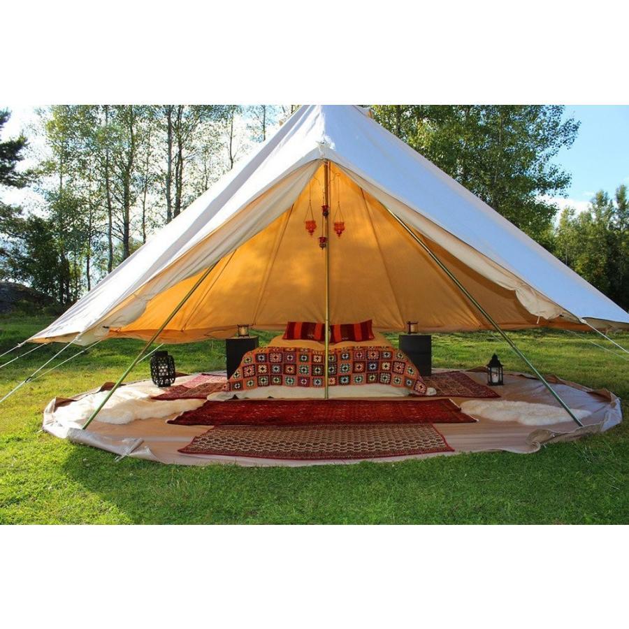 DANCHEL Four-Season Waterproof Bell Tent for Glamping, 13.1ft Dia. Col