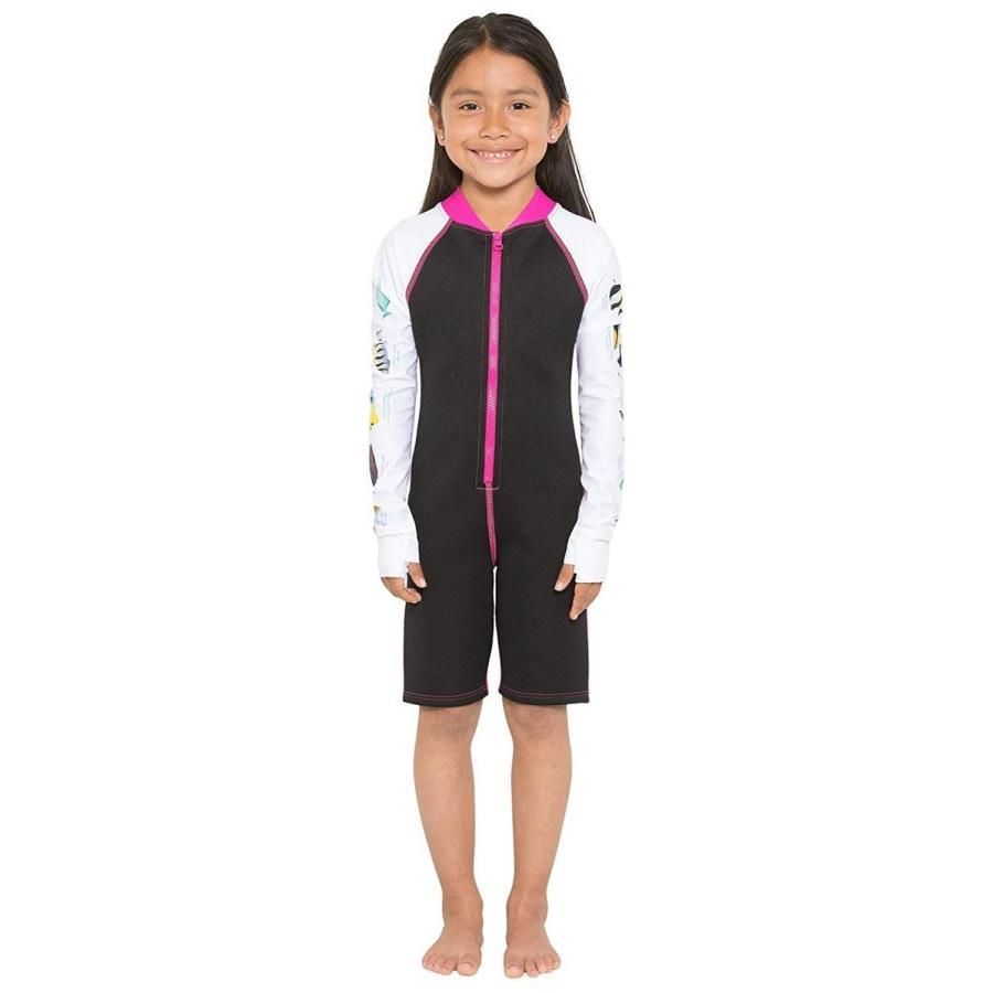 大人気 Tuga Girls Wetsuit Snorkel Shorty 1.5mm Neoprene Tuga Wetsuit (UPF 50+), 50+), Pink Carib, 代引き人気:e9252d0c --- airmodconsu.dominiotemporario.com
