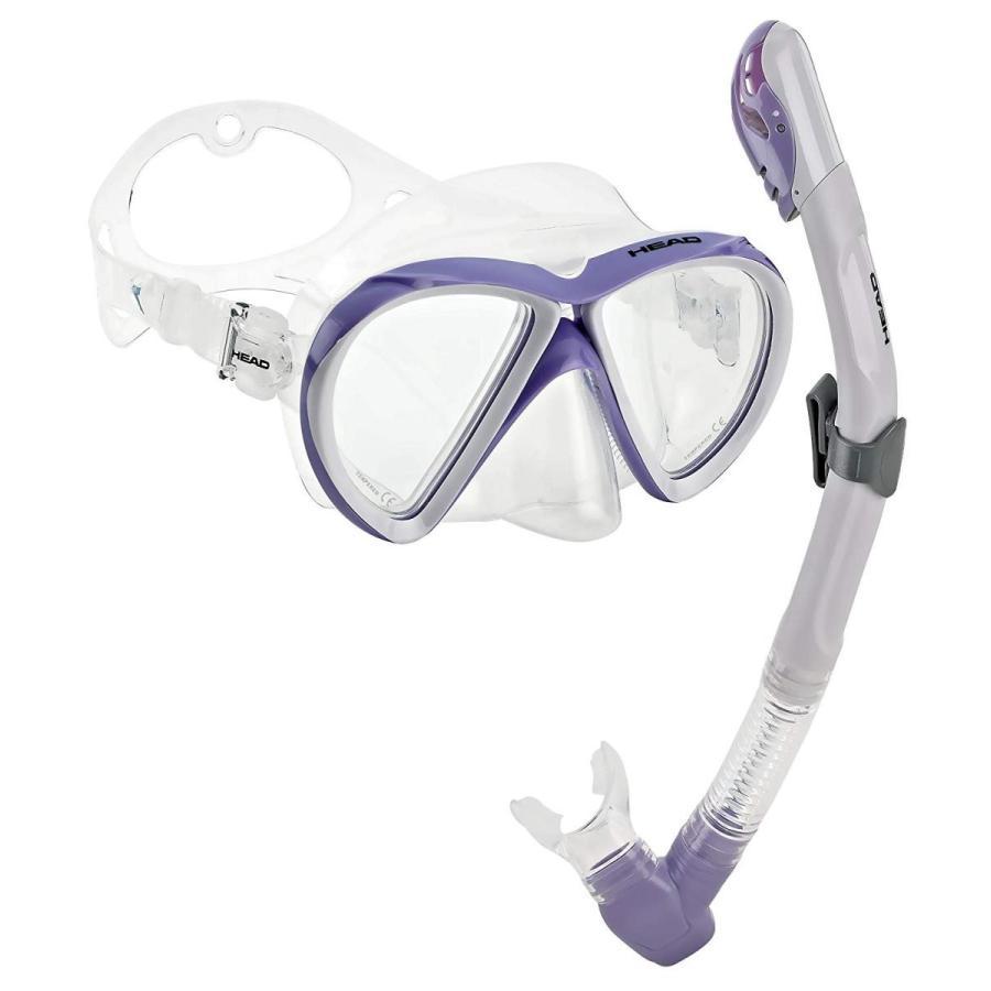 最新作の HEAD by Mares Scuba Snorkeling Dive Dive Mask Dry Set, Lilac Snorkel Set, White Lilac, ドルチェモデルノ:85c77173 --- airmodconsu.dominiotemporario.com