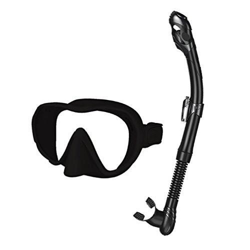 【セール】 SEAC Set X-Frame Mask & Snorkel, Black, A-TYPE ce2d6281