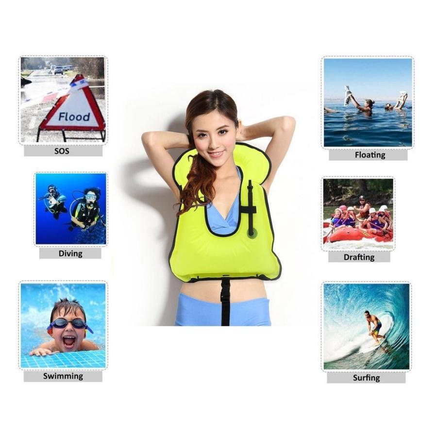 【一部予約!】 Snorkel Adult Vest,Inflatable Life Jacket Snorkeling Buoyancy Swimming, マイミシン 191cd242