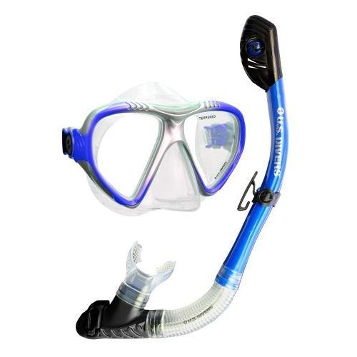 予約販売 U.S. Divers Adult Magellan Purge LX Mask/Tucson LX Snorkel (Elect. Blu, 値引 a2293d9f