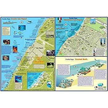 大注目 Franko Maps Guide Cozumel Mexico Dive Franko Snorkel Dive & Adventure Guide Map Poster, AccessAccessory:a61c716e --- airmodconsu.dominiotemporario.com