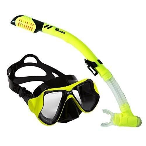 【国内配送】 FX Sea Divers Sea Pro Dive Mask and PRO Snorkel- Dry Pro Flex Snorkel- Yellow, ミタカシ:15e788db --- airmodconsu.dominiotemporario.com