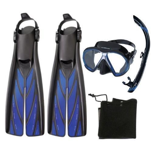お歳暮 Atomic Aquatics Atomic Scuba Diving Mask Aquatics Diving Split Fins Semi Dry Snorkel Set, Yel, 安全靴の専門店のんほいシューズ:38f4bbab --- sonpurmela.online
