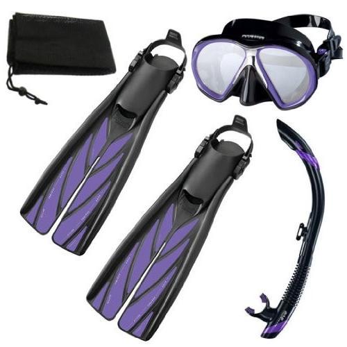 超特価激安 Atomic Scuba Diving Diving Mask, Sm Split Fins, Semi Dry Atomic Snorkel Set, Purple, Sm, 株式会社NCC:27c28104 --- airmodconsu.dominiotemporario.com