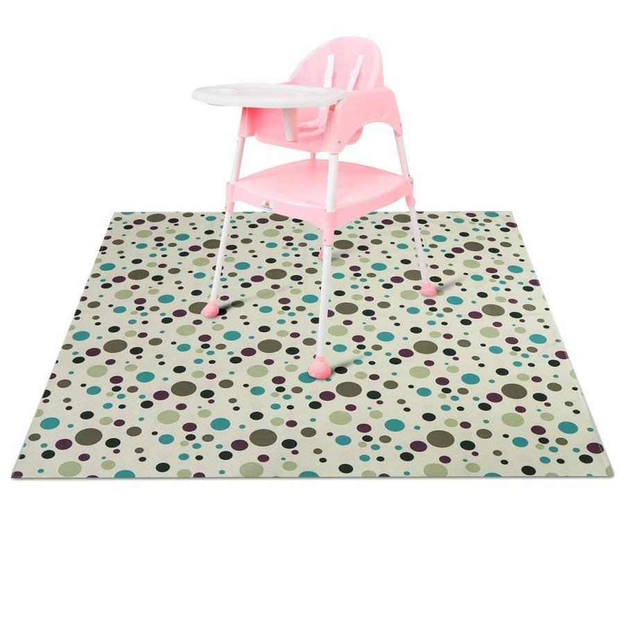 ZL Magic Baby High Chair Floor Mat Protector Washable Splat Splat Cover Kid