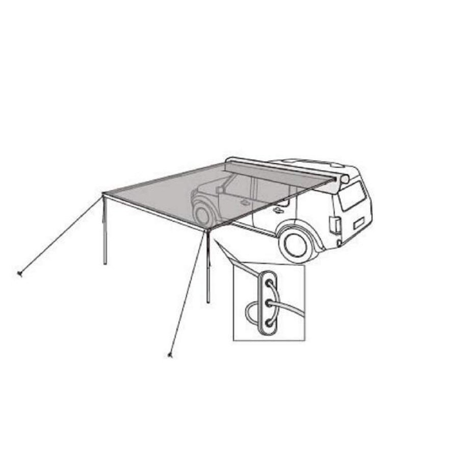 DANCHEL OUTDOOR 6.5/8.2'Lx10'W Car Side Awning with 10ft Side Extensio