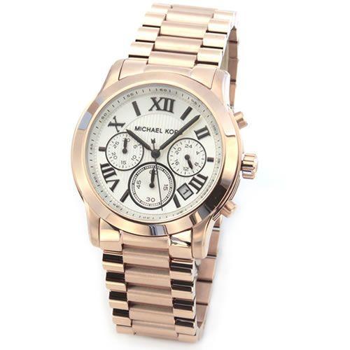 『1年保証』 マイケルコース 腕時計 レディース MICHAEL KORS ピンクゴールドカラー クロノグラフ MK5929, ソノベチョウ 27958db6