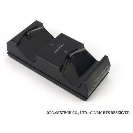 ゲームテック GAMETECH PS4 DUALSHOCK 4 専用 コントローラ充電スタンド コントローラ充電スタンド4 ブラック P4A1623|3enakans|03