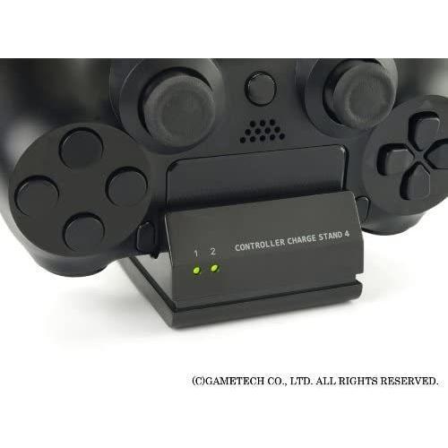 ゲームテック GAMETECH PS4 DUALSHOCK 4 専用 コントローラ充電スタンド コントローラ充電スタンド4 ブラック P4A1623|3enakans|06