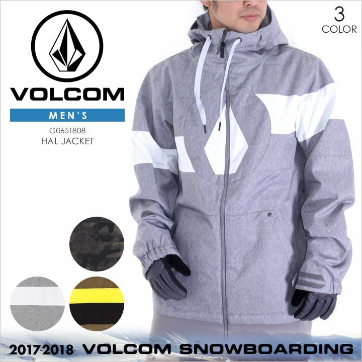 【 黒Friday セール 】 VOLCOM スノーウェア メンズ HAL JACKET 17-18 秋冬 G0651808 カモフラージュ/グレー/ブラウン XS/S/M/LXL