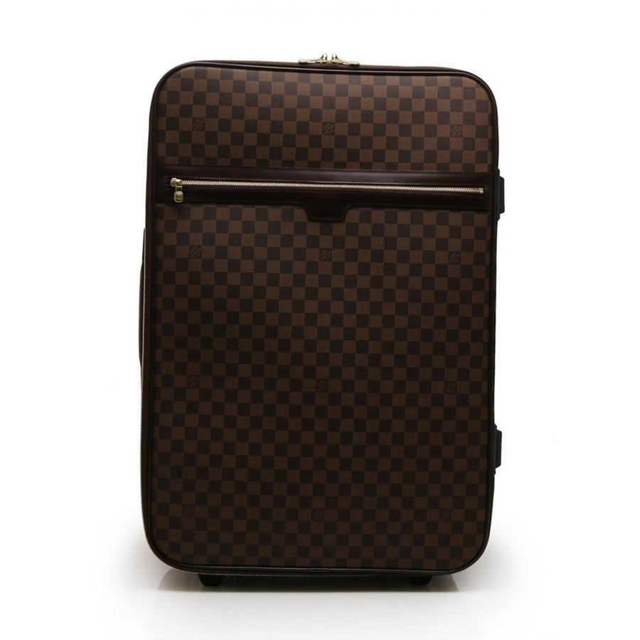 超美品 LOUIS VUITTON ルイヴィトン ペガス65 キャリーケース 旅行バッグ N23295 ダミエエベヌ 茶【本物保証】