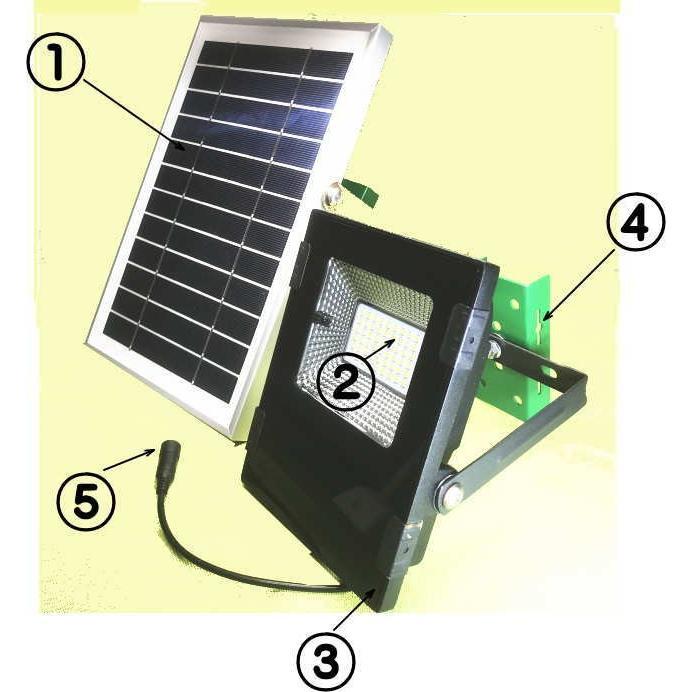 ソーラーLEDライト GRF60-6W-500L