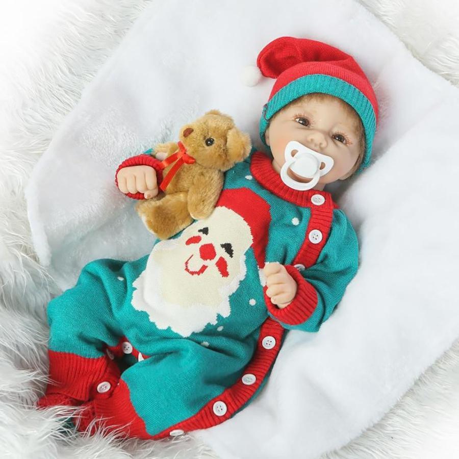 NPKCOLLECTION 人形 Babyリボーンベビードールソフトシリコンビニール20インチの50センチメートル磁気口リアルな少年少女のおもちゃア