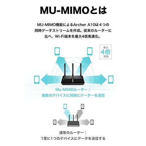 TP-Link Wi-Fi 無線LAN ルーター 11ac AC2600 1733 + 800 Mbps MU-MIMO IPv6 デュアルバンド ギ|4smile|06