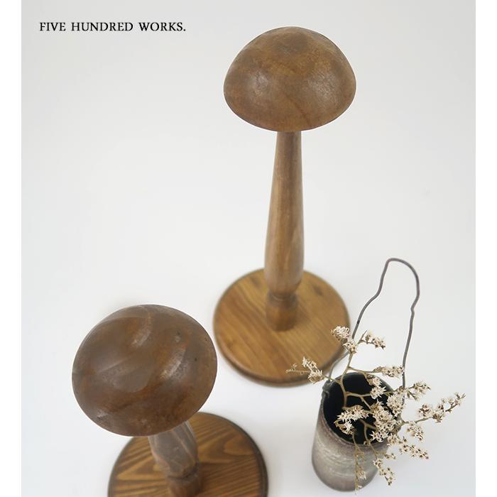 エントリーP10倍 ウッドハットスタンドL(帽子立て) 500WORKS. 木製 帽子たて Creer/クレエ / 3/5再入荷後発送 /|500works