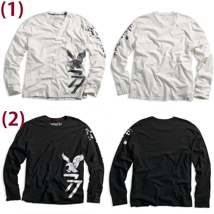 American Eagle・アメリカンイーグル メンズ ロンT 長袖 ロングTシャツ (ae261) USA限定 送料無料|5445|02