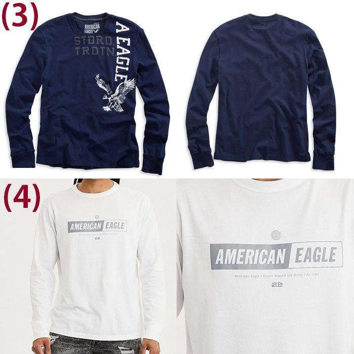 American Eagle・アメリカンイーグル メンズ ロンT 長袖 ロングTシャツ (ae261) USA限定 送料無料|5445|03
