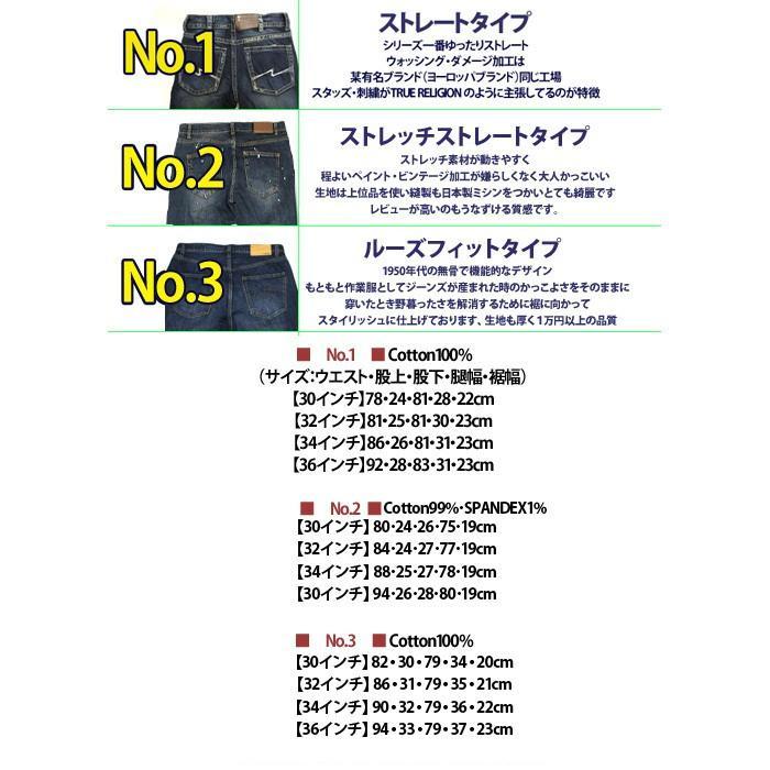 5445 ジーンズ メンズ ストレート ダメージ デニム パンツ five-p23 3タイプ 大きいサイズ ストレッチ ビンテージ加工|5445|12