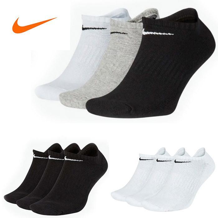 NIKE ナイキ ソックス 3足セット 靴下 スポーツ ジョギングに ローカット  ゆうパケット送料無料 レディス メンズ  nike01|5445