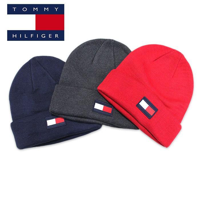 TOMMY HILFIGER トミー ニット帽 ユニセックス メンズ レディース ブランド t572 ネイビー グレー レッド|5445