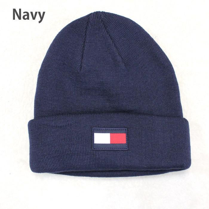 TOMMY HILFIGER トミー ニット帽 ユニセックス メンズ レディース ブランド t572 ネイビー グレー レッド|5445|04