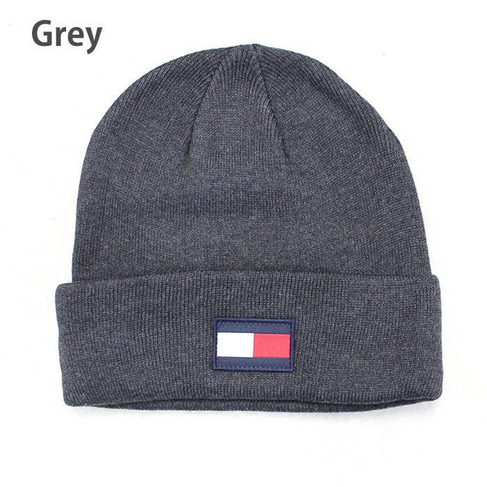 TOMMY HILFIGER トミー ニット帽 ユニセックス メンズ レディース ブランド t572 ネイビー グレー レッド|5445|05