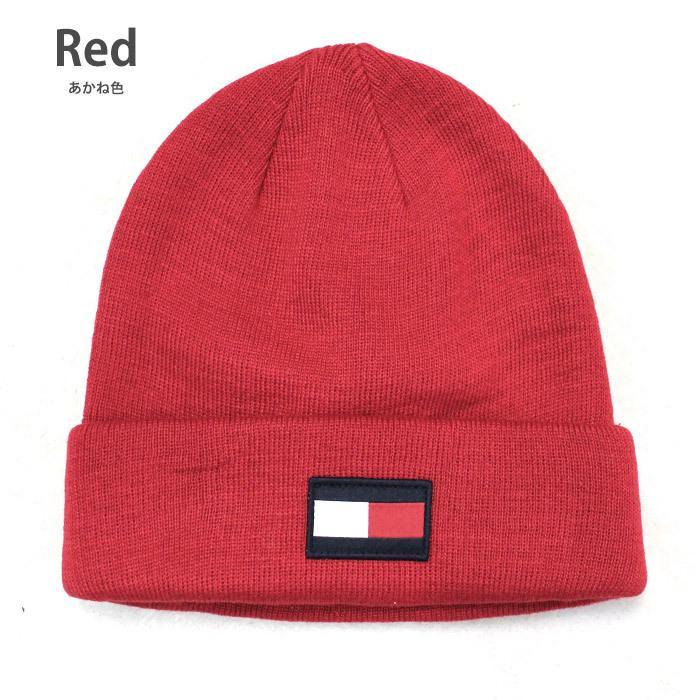 TOMMY HILFIGER トミー ニット帽 ユニセックス メンズ レディース ブランド t572 ネイビー グレー レッド|5445|06