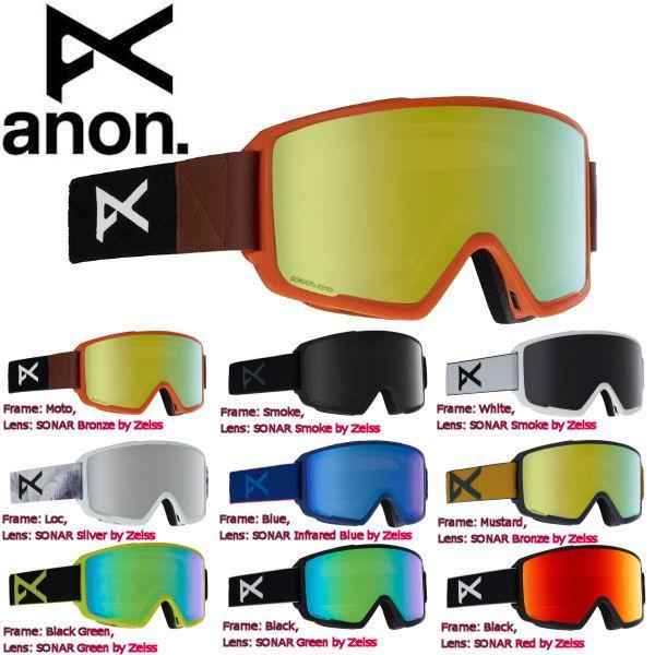かわいい! アノン ANON メンズ スノーゴーグル スノーボード アジアンフィット 9カラー Mens Anon M3 Goggle + Spare Lens, colorful story 975e534b